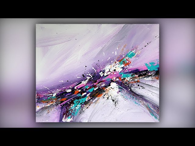 Easy Abstract Painting for Beginners / Palette Knife Technique / Demo #061