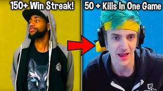 EVERY WORLD RECORD IN FORTNITE BATTLE ROYALE! (Most Kills, Win Streaks + MORE!)
