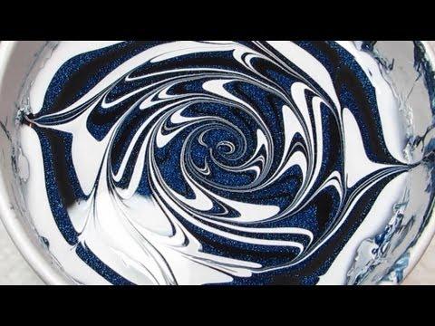 Midnight Swirl Water Marble Nail Art Tutorial thumbnail