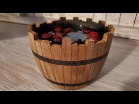 Woodturning Whiskey Barrel