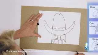 Teaching Kids How to Draw: How to Draw a Cowboy Hat