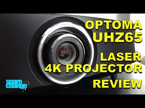 EYE BLINDING! Optoma UHZ65 Laser 4K Projector Review & Setup | Home Theater Upgrades