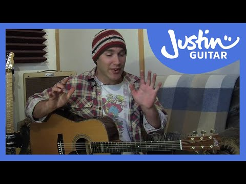Intermediate Rhythm Guitar 1 (Guitar Lesson  IM-115) How to play IF Stage 1