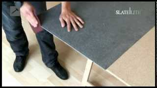 Slate Lite - Basis Verarbeitung / Steinfurnier / Dünnschiefer / Leichtschiefer / Stoneveneer