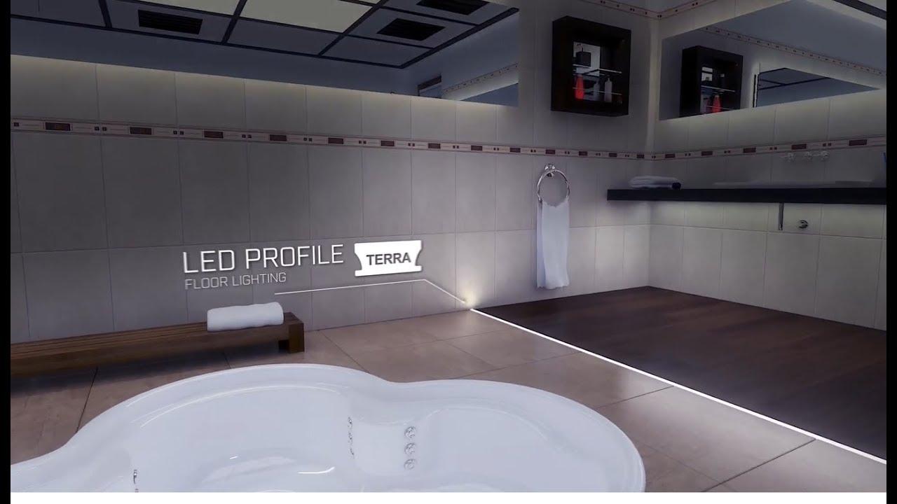 Profile Terra Lumines Led Lights Installation Mounting Of Led Strip In Aluminium Profile