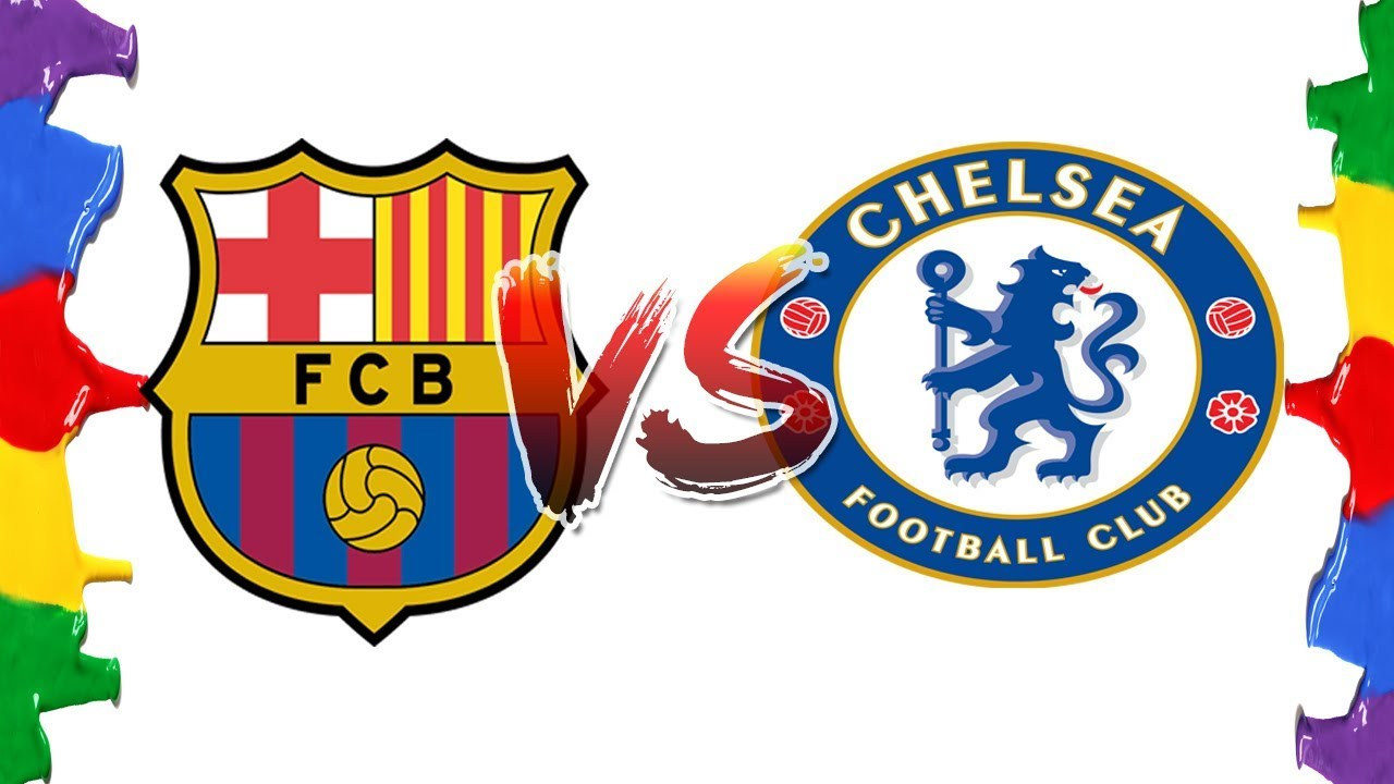 050009b98f0 How to Draw and Color - Barcelona VS Chelsea Champions League Logos  Coloring Pages