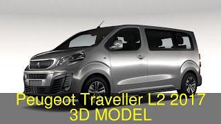 3D Model of Peugeot Traveller L2 2017 Review