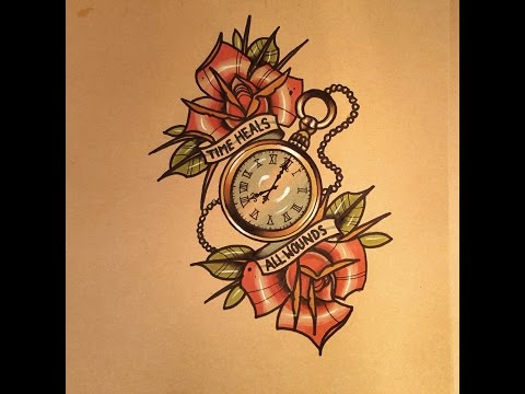 How to Draw a Pocket Watch Tattoo