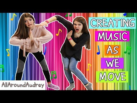 FUNNY DANCE SKITS! WE CAN MAKE MUSIC BY MOVING! / AllAroundAudrey