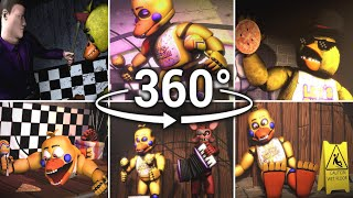 360°| Ultimate Chica Compilation!! - FNAF1 to FNAF6/FFPS [SFM] (VR Compatible)