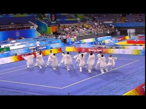 2008北京奧運 8月21 武術項目 太極中場表演 - YouTube