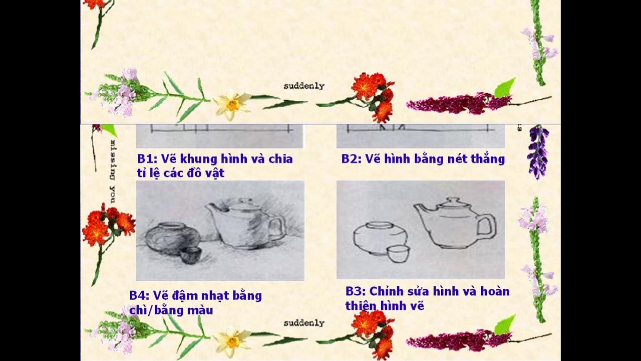 Trường Tân Thới – Lớp 5 – Mĩ thuật – Chủ đề 8 – Mẫu vẽ có ba đồ vật (tiết 2)