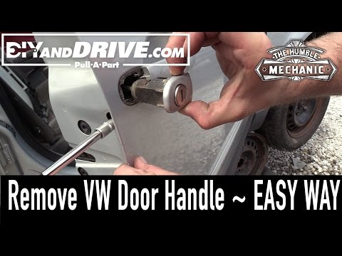 How To Remove A VW Door Handle ~ Salvage Yard Tips