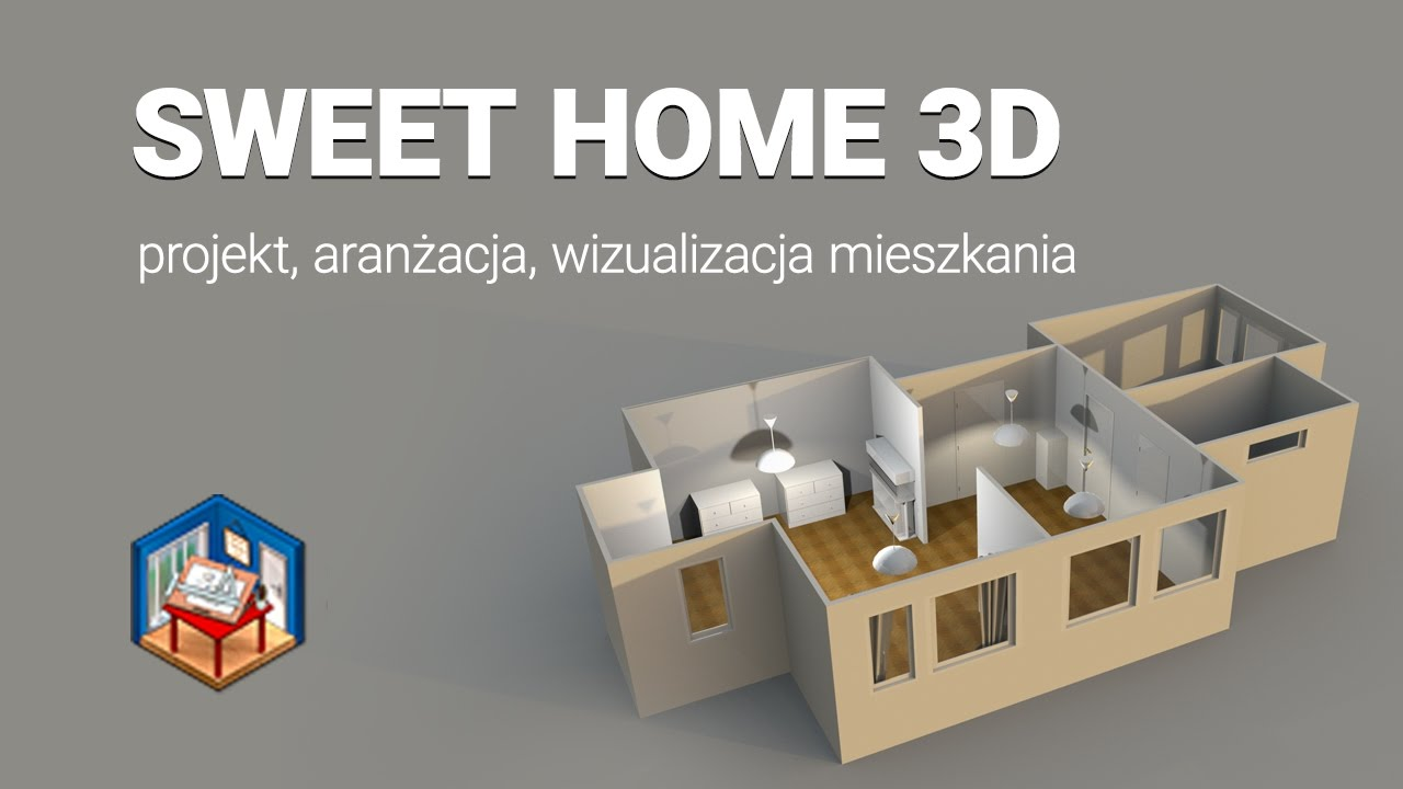 sweet home 3d kurs projekt aran acja wizualizacja. Black Bedroom Furniture Sets. Home Design Ideas