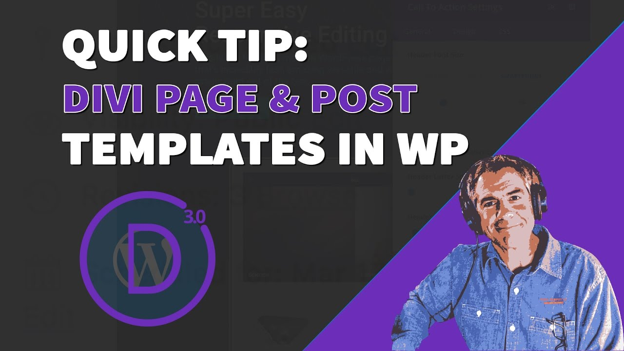 Quick Tip: How To Create Templates Using Divi - YouTube