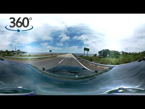 Crossing the Bridge to the Outer Banks, NC  - OBX 360 Video