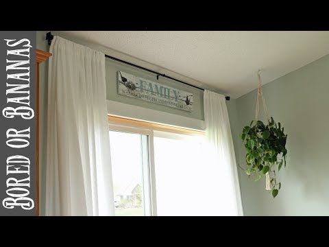 DIY EASY Farmhouse Curtains on the Cheap!