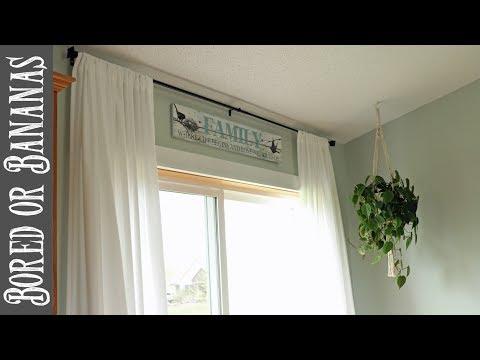 DIY EASY Farmhouse Curtains on the Cheap!
