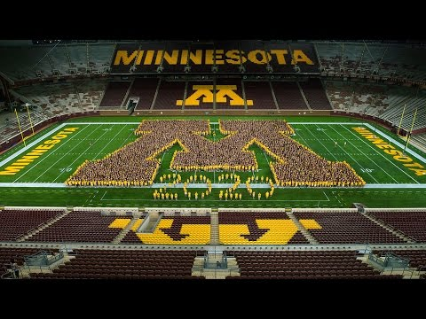 "Time Lapse: University of Minnesota Class of 2020 Forms ""M"" at TCF Bank Stadium"