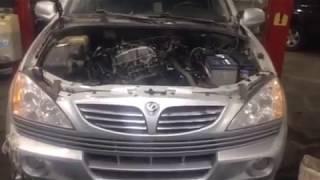 Замена мотора Саненг Кайрон 2л дизель D20DT 2007г Евро 3 НИЖНИЙ НОВГОРОД