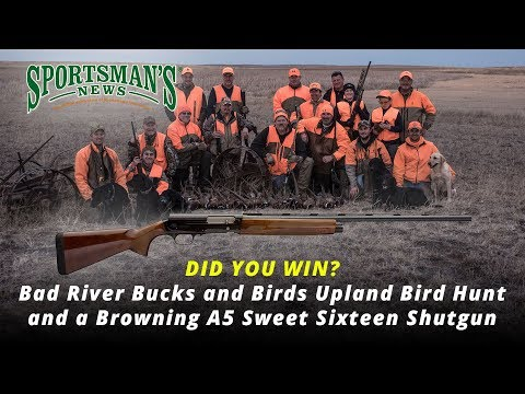 Pro Member Drawing for Upland Bird Hunt and Browning A5 Sweet Sixteen Shotgun