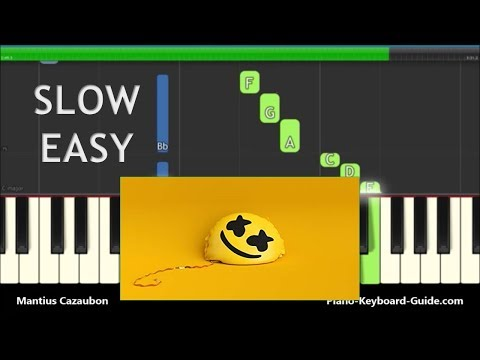 Marshmello Ft. Bastille I Want You To Be Happier - Slow Easy Piano Tutorial
