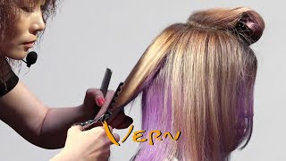 How to cut Layered Bob Unique stripes? - Vern hairstyles 43
