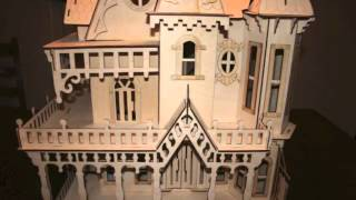 "Victorian Dollhouse Kit 1"" Scale Laser Cut Victorian Doll House"