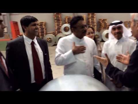 Asian arab chamber of commerce Bangalore visit to Sunrise factory dubai investment Park UAE.