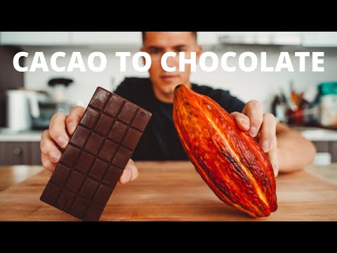 Making Chocolate from Fresh Cacao Pods