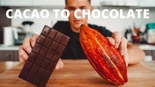 MAKING CHOCOLATE FROM A CACAO POD