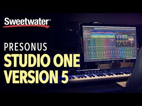 PreSonus Studio One Version 5 DAW Software Overview