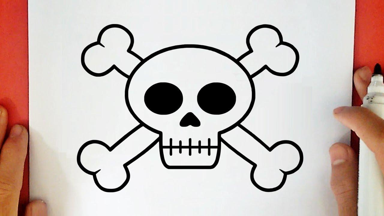COMMENT DESSINER UNE TÊTE DE MORT PIRATE