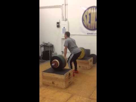 125kg pr attempt, high block