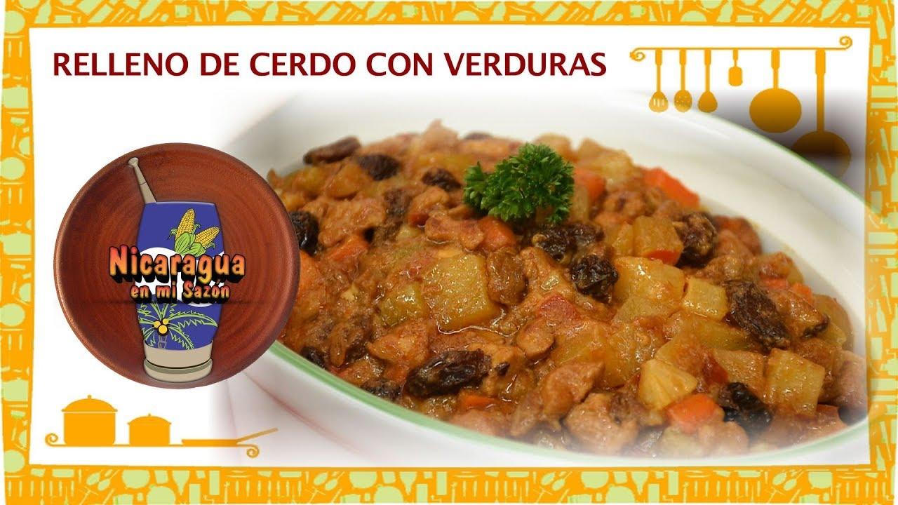 Relleno Navideno De Cerdo Con Verduras Maria Esther Lopez Youtube