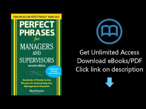 Perfect Phrases For Managers And Supervisors Pdf