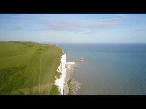 Seven sisters white Cliffs  Dover Dji Mavic 4K
