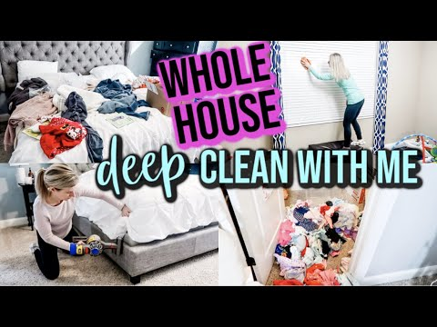*SATISFYING* WHOLE HOUSE DEEP CLEAN WITH ME 2019   WHOLE HOUSE CLEANING MOTIVATION   SPEED CLEANING