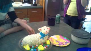 Sacrificing Of The Lamb Cake! Easter 2012