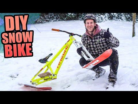RIDING MY DIY SNOW BIKE MODIFICATION - THE ULTIMATE SNOW MTB!
