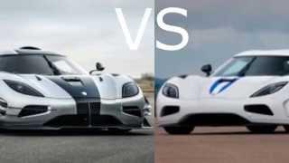 Koenigsegg Agera One:1 vs Koenigsegg Agera R Acceleration