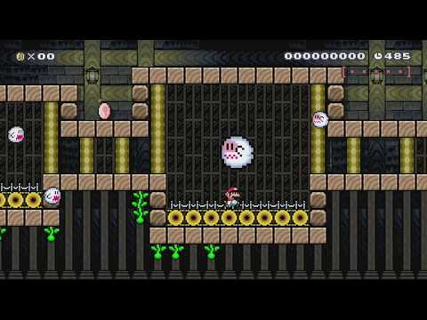 SMW remixed: Forest Ghost House by Tyler - SUPER MARIO MAKER - NO COMMENTARY