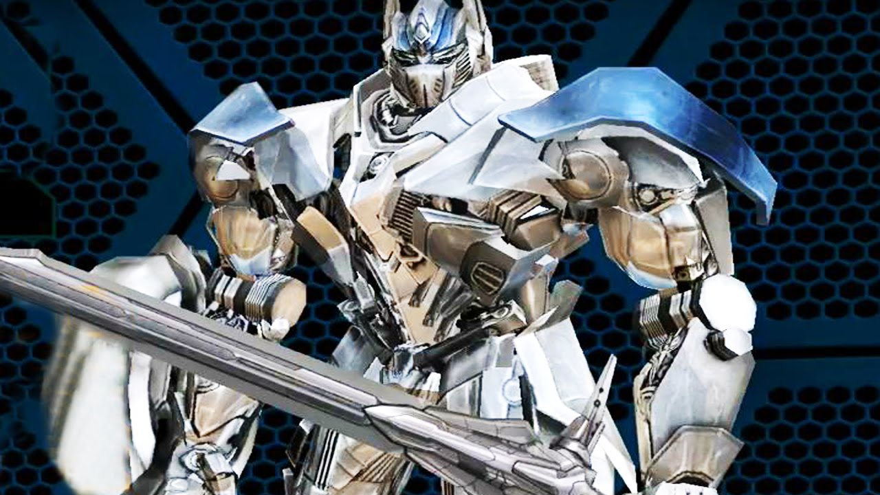 Transformers Age Of Extinction Unlocked Silver Knight Optimus Prime Youtube