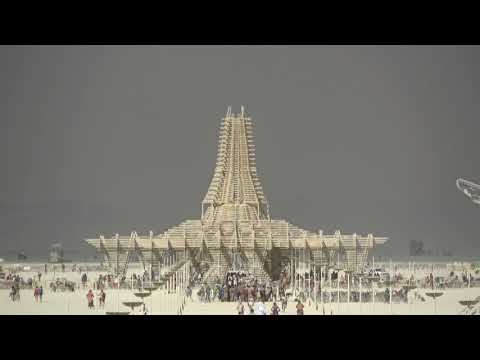 Burning Man 2017 - aerial view 4K