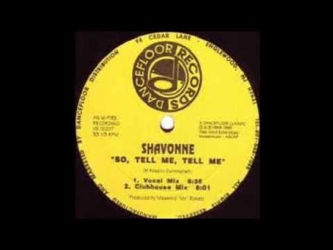 Shavonne  So, Tell Me, Tell Me 1989 BEST FREESTYLE ELECTRO MUSIC