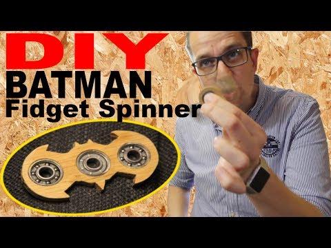DIY Batman Fidget Spinner Finger Spinner aus Holz wood selber machen selber bauen deutsch german