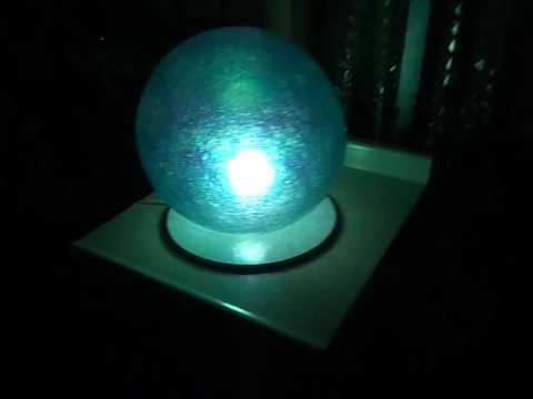 Lampara esfera de fibra de vidrio muebles lluminat youtube - Muebles de fibra de vidrio ...