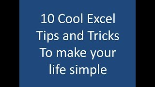 Excel Tips and Tricks 2017 (In Hindi)