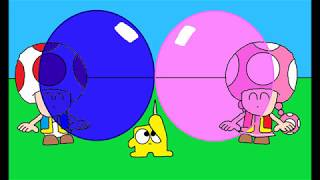 Toad & Toadette Blowing Bubble Gum