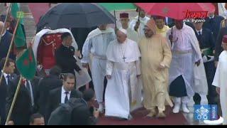 Podróż Apostolska Ojca Świętego Franciszka do Maroka: Oficjalne powitanie
